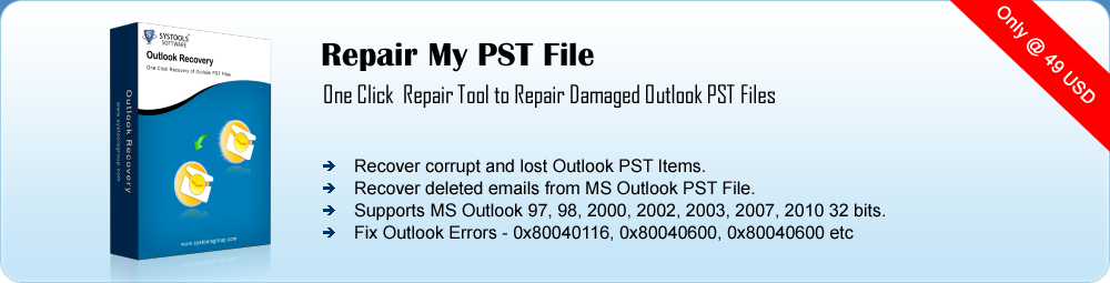 Recovery for PST File